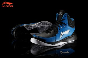 Li-Ning Swift 4 Basketball Shoes - Black/Dark Sky Blue/White