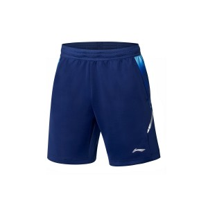 Li-Ning China National Badminton Team 2019 Sudirman Cup Men's Shorts - Blue