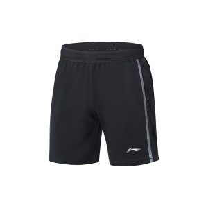 China National Badminton Team X Li-Ning Men's 3M Badminton Game Shorts - Black