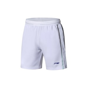 China National Badminton Team X Li-Ning Men's 3M Badminton Game Shorts - White