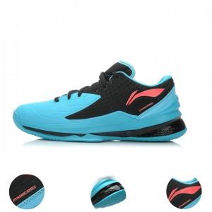 Li-Ning Shadow Walker Low Mens Professional Basketball Shoes - Black/Red/Blue