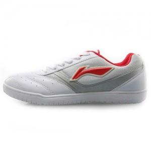 Li Ning Women's Lightweight Non-Slip Table Tennis Training Shoes [White/Red]