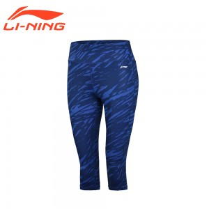 Li-Ning 2017 Women's 3/4 Running Layer Shorts AT DRY 88% Polyester 12% Spandex Breathable LiNing Sports Shorts