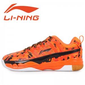 Li-Ning Womens China National Badminton Team 2015 Professional Badminton Shoes - Orange/Black
