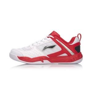 Li-Ning 2017 Attack III Men's Badminton Training Shoes - White/Red