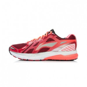 Li-Ning Men's High-Tech Damping Stability Running Shoes - Red/Orange/Silver/Grey/White
