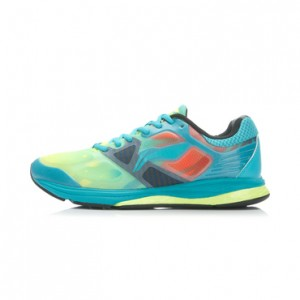 Li-Ning Men's Cushioning Running Shoes - Bright Fluorescent Green/Butterfly Blue