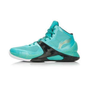 Li-Ning WoW4 Wade Sixth Man Professional Basketball Shoes - Light Green/Black/Gold