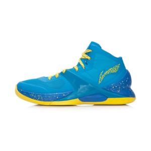 Li-Ning WoW4 Wade Sixth Man Professional Basketball Shoes - Blue/Yellow