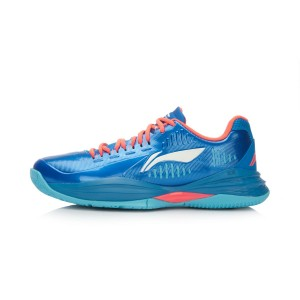 "Li-Ning ""Storm Aurora"" Mens Cushion Basketball Shoes - French Blue/Red/White"