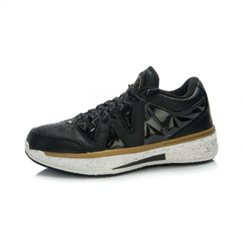 "Li-Ning Way of Wade 2 Low ""Black Gold"" Professional Basketball Shoes"