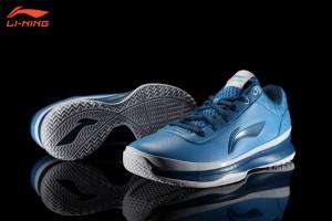 Li-Ning Combat Basketball Shoes - Sky Blue/Deep Blue/White