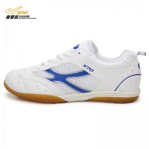 Spanrde Men's & Women's Professional Table Tennis Ventilation Shoes [White/Blue]
