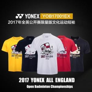 2017 All England Open YONEX Mens Commemorative Edition Badminton T-Shirt