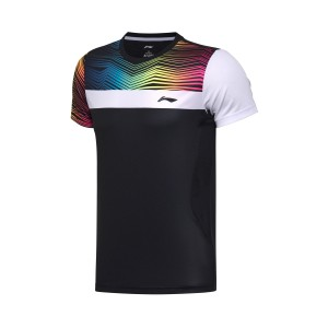 Lining 2017 New Badminton Series Men's AT DRY Match T-Shirts