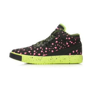 Li-Ning 2016 Wade Mid-Cut Basketball Culture Shoes - Black/Pink