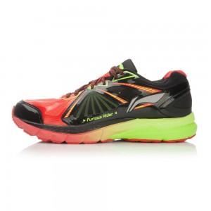Li-Ning Mens Furious Rider 2 II Stable Running Shoes - Red/Black