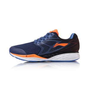 Li-Ning 2017 Men's Cloud IV Running Shoes Professional Stable Running Sneakers - Blue/Black/Orange