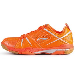 Li Ning Time Travel Women's National Team Professional Badminton Shoes - [Fluorescent Orange]