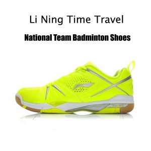 Li Ning Time Travel Mens National Team Professional Badminton Shoes - [Fluorescent Yellow]