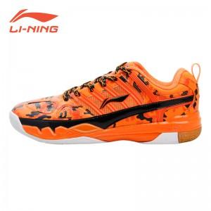 Li-Ning China National Badminton Team 2015 Mens Professional Badminton Shoes - Orange/Black