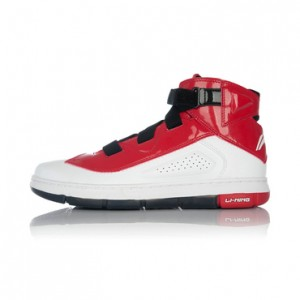 Li Ning Wade Gentleman Assassin Mid Lifestyle Basketball Sneakers - White/Red/Black