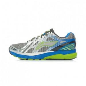 Li-Ning Men's High-Tech Damping Stability Running Shoes - Silver/Blue/Grey/Black/Green