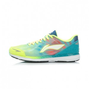 Li-Ning Cloud Horse men's Lightweight Running Shoes - Bright Fluorescent Green/Butterfly Blue