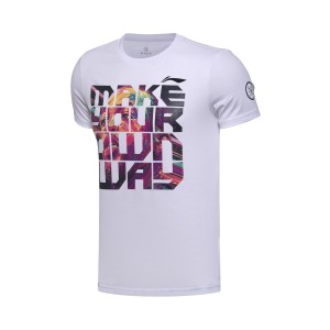 2017 Way OF Wade CHINA TOUR Themed Lifestyle Tee Shirt - WHITE